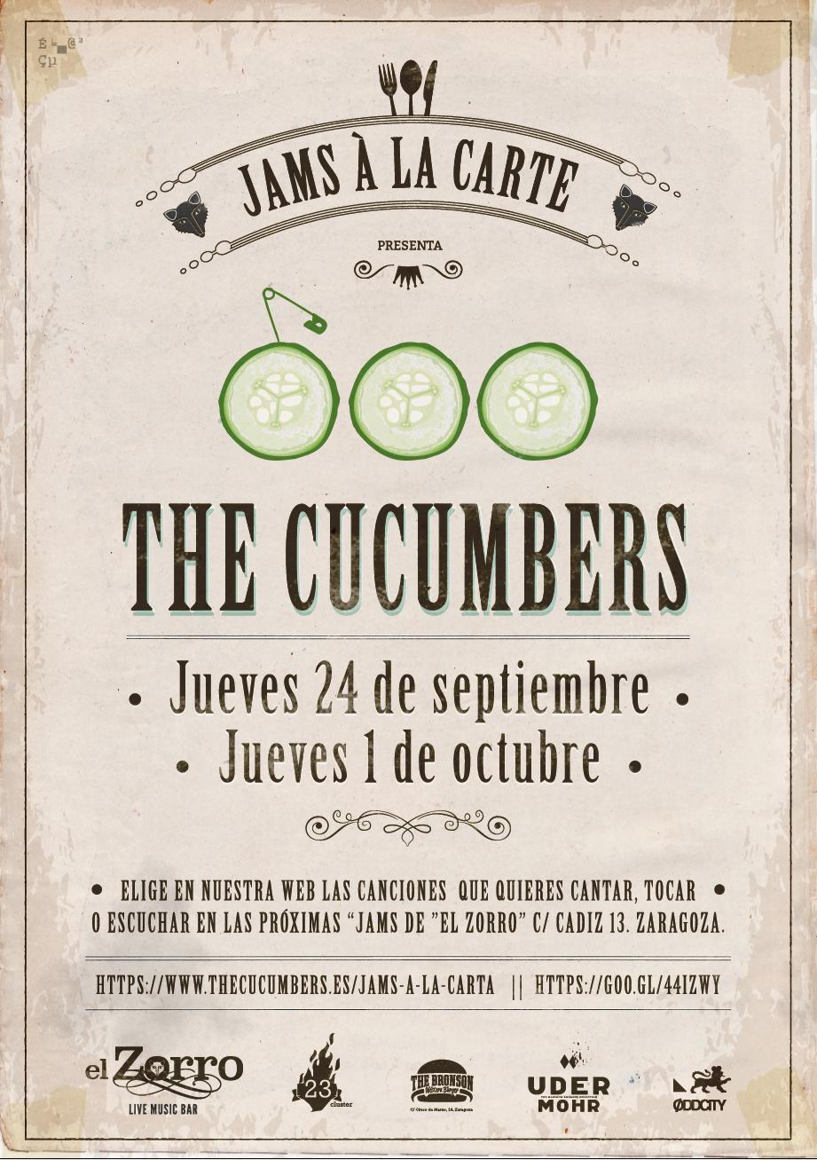 JAMS A LA CARTA en El Zorro (Jueves 24 de Septiembre y  Jueves 1 Octubre)