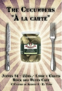 Cartel The Cucumbers Rock & Blues Abril
