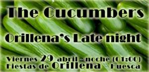"""Cartel """"The Cucumbers"""" Orillena abriol"""