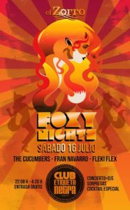 Foxy nights with The Cucumbers 16 julio