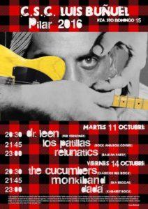 cartel-buñuel-pilares-2016 The Cucumbers