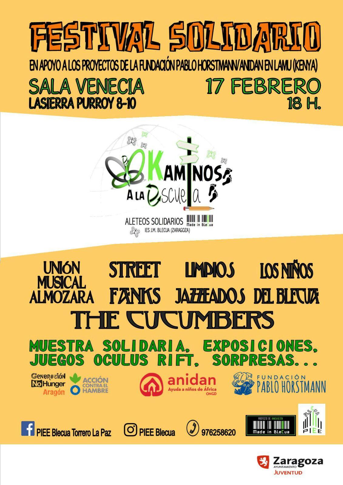 Pepinillos Solidarios – Viernes 17 en Sala Venecia de Torrero – 20hs