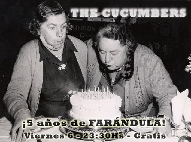 ¡5 años de Farándula! Party time with The Cucumbers